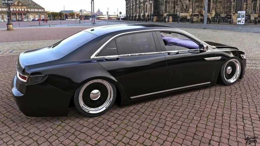 Tiefergelegter Lincoln Continental in Renderings von Abimelec Design