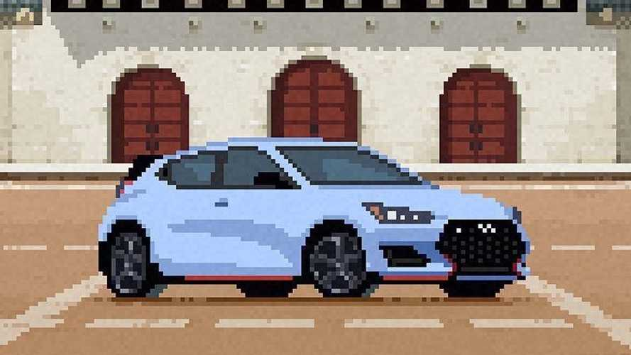 Hyundai N Performance Pixel Art