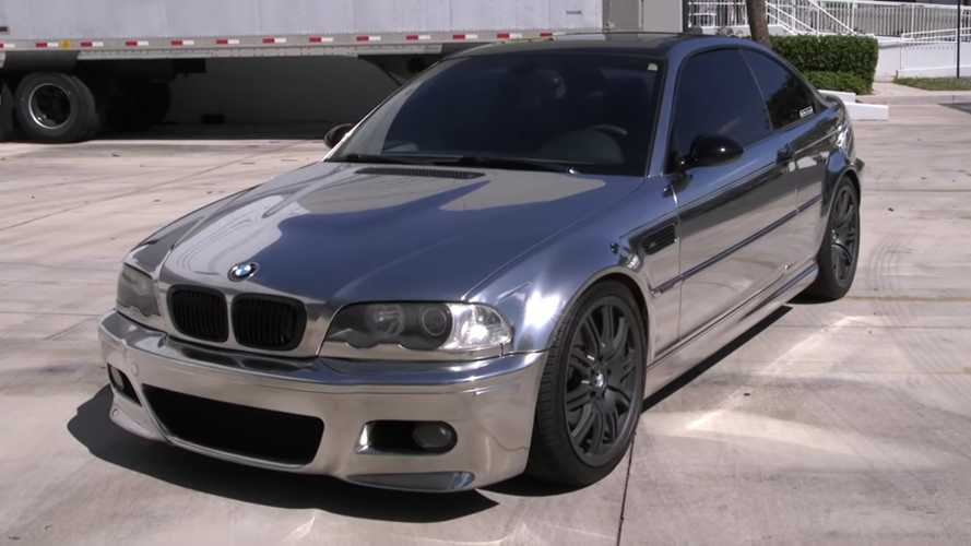 BMW M3 With Chrome Paint Is Equal Parts Reflective And Bonkers