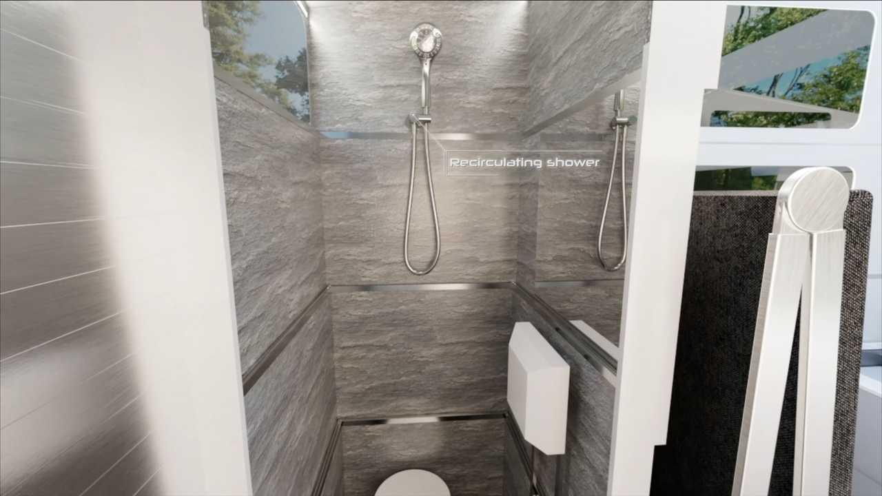 CyberLandr shower