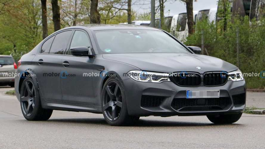 BMW M5 Spy Photos Show Odd Test Vehicle With Wider Rear Track