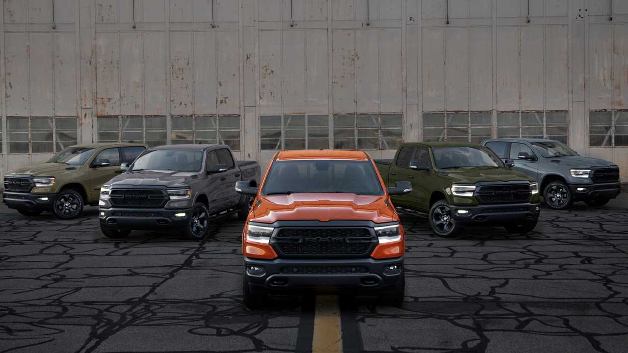 Spitfire is a new shade of orange added to the Ram 1500 Built To Serve Edition trucks.