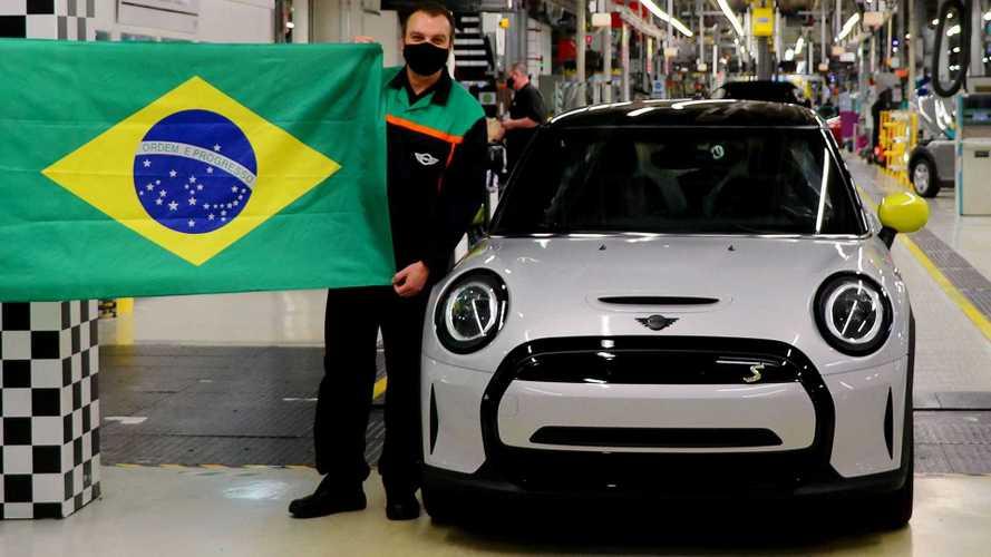 MINI Cooper elétrico com destino ao Brasil começa a sair da linha de produção