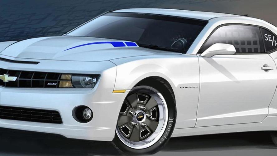 Chevrolet COPO Camaro concept hits the track [video]
