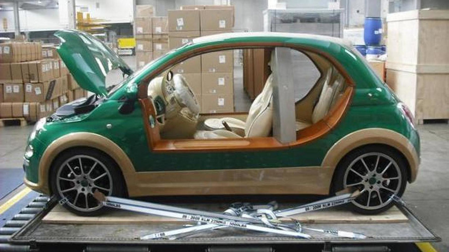 Gaddafi's Fiat 500 Castagna EV captured by rebels