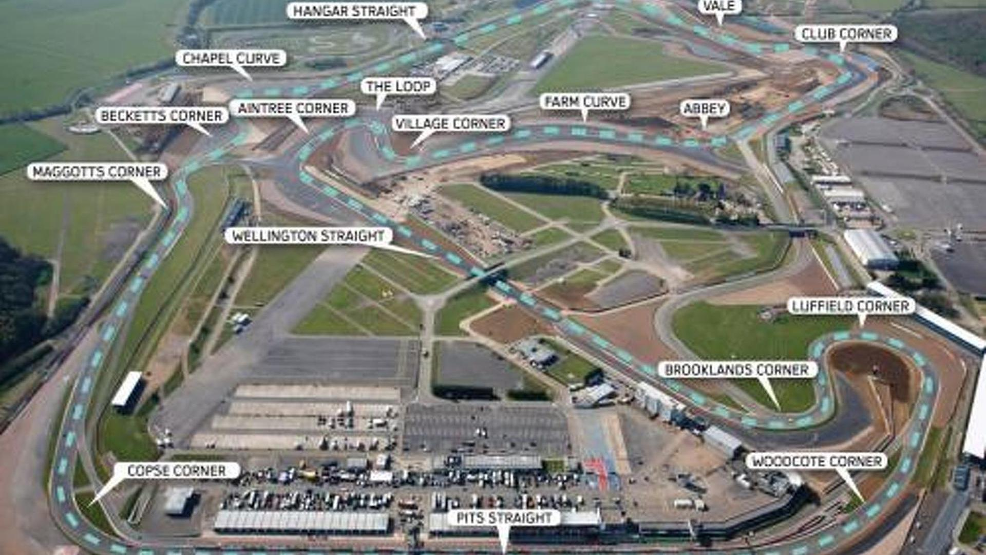 Circuito Silverstone : New silverstone not faster than monza