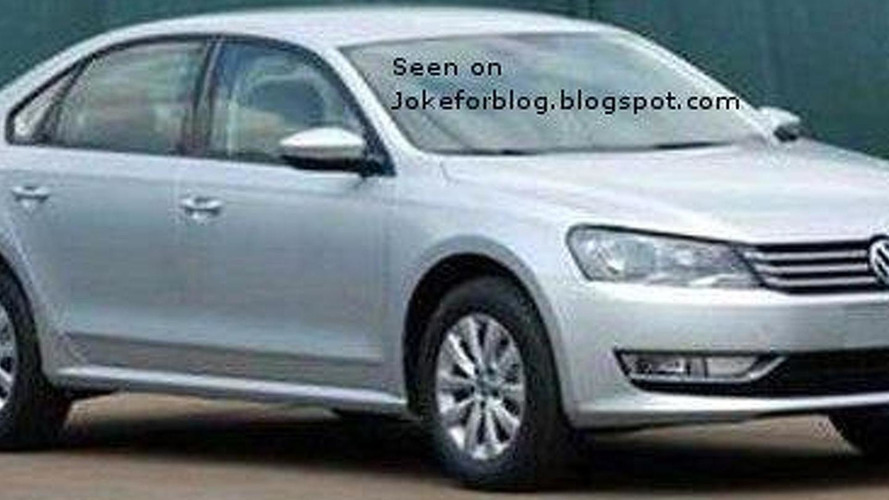 Volkswagen New Midsize Sedan spied uncovered