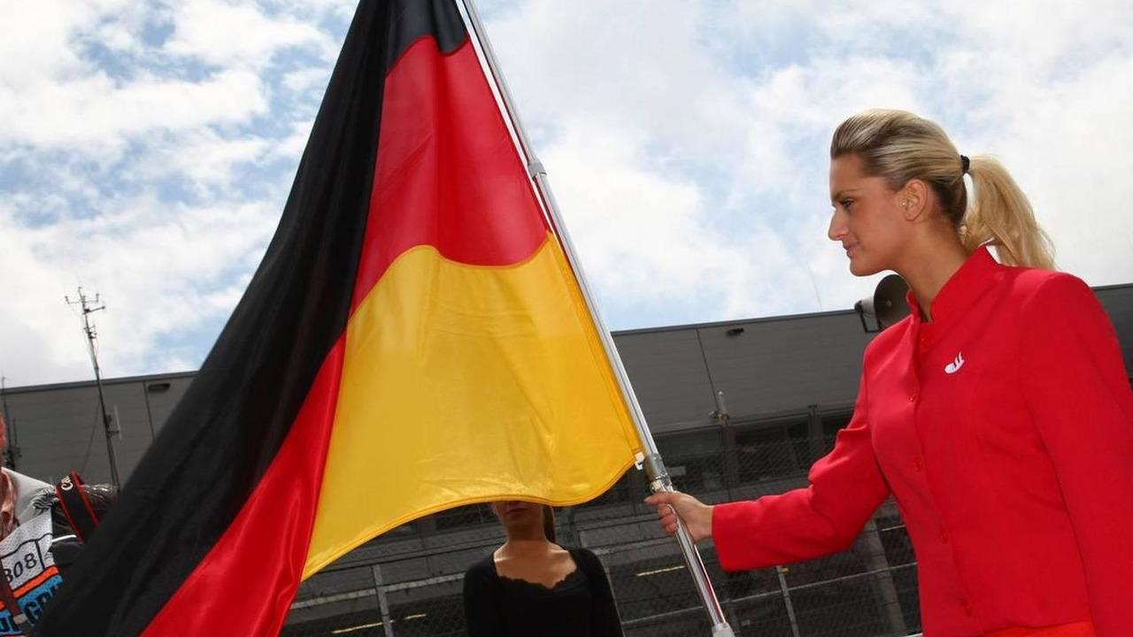 Grid girl, German Grand Prix, Sunday Grid Girl, 12.07.2009 Nürburg, Germany