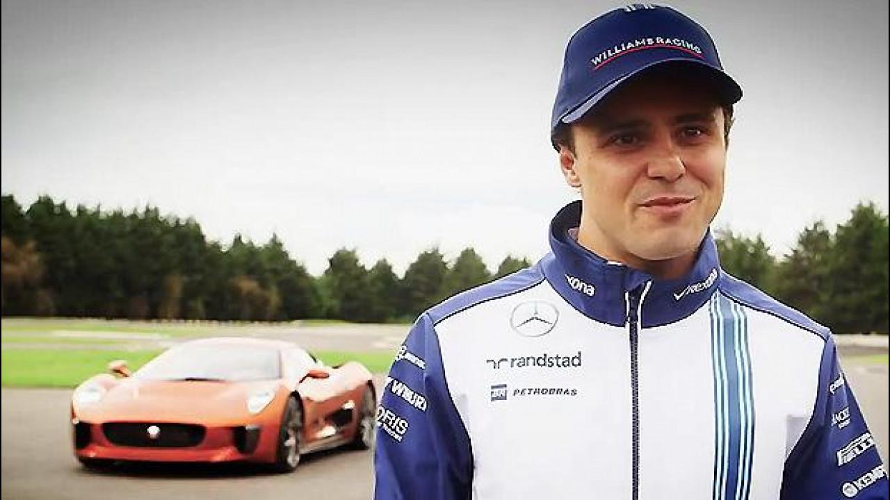 [Copertina] - Jaguar C-X75, Felipe Massa guida quella di 007 [VIDEO]