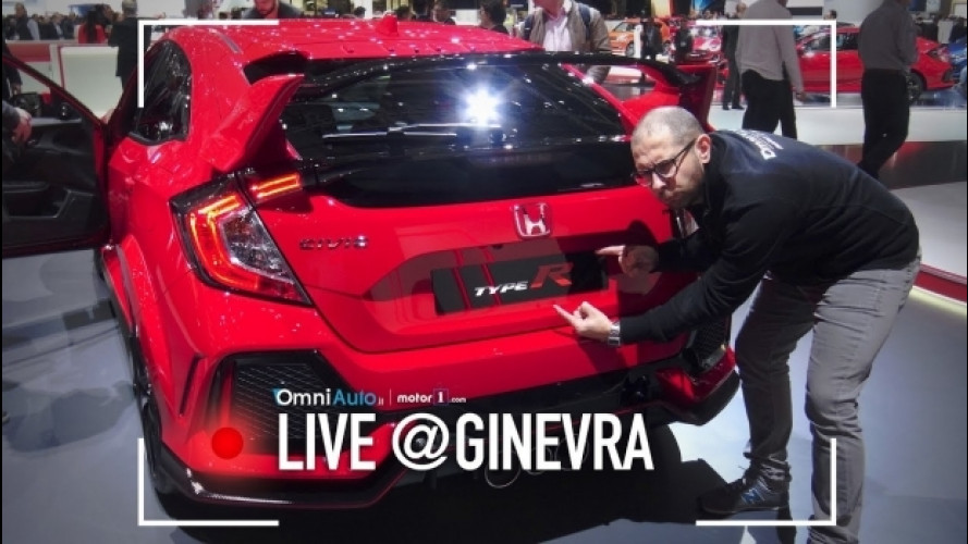 Salone di Ginevra, la nuova Honda Civic Type R da vicino [VIDEO]