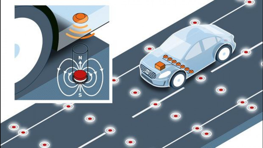 Volvo sperimenta le strade magnetiche