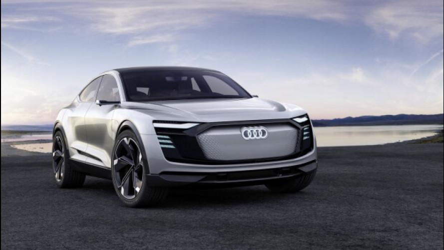 Audi e-tron Sportback sarà di serie e nascerà in Belgio nel 2019