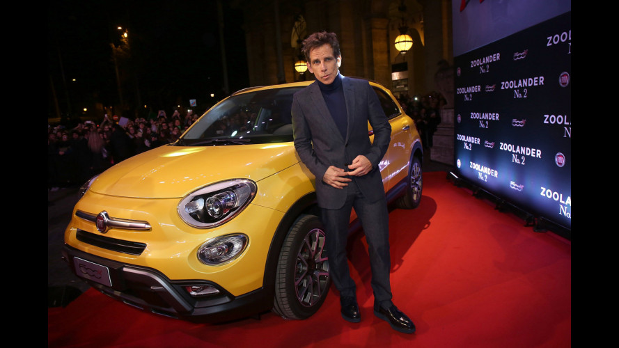 Fiat 500X con Ben Stiller sul red carpet di Zoolander 2 [VIDEO]