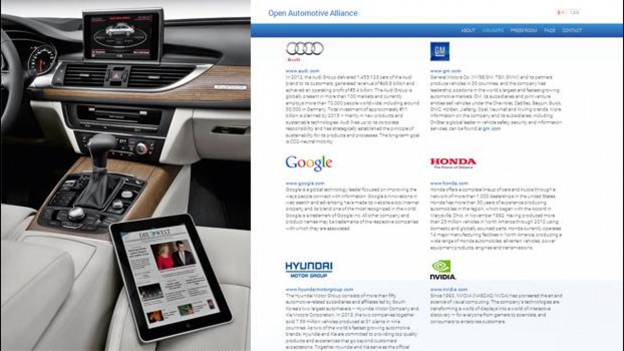 [Copertina] - Dallo smartphone alla smartcar: Google si allea con Audi, GM, Hyundai e Honda