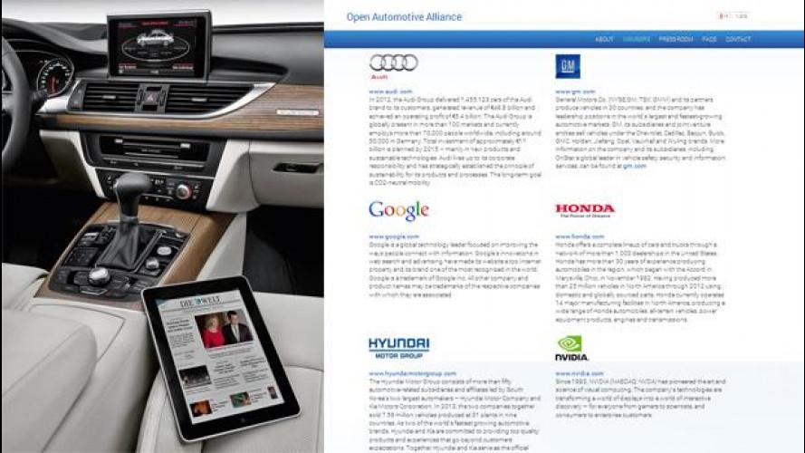 Dallo smartphone alla smartcar: Google si allea con Audi, GM, Hyundai e Honda