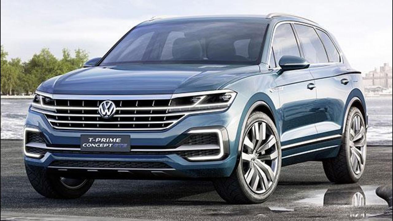 [Copertina] - Volkswagen T-Prime Concept GTE, prove di Touareg