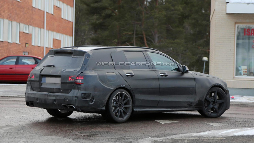 Mercedes-Benz C63 AMG Estate spied testing in Scandinavia