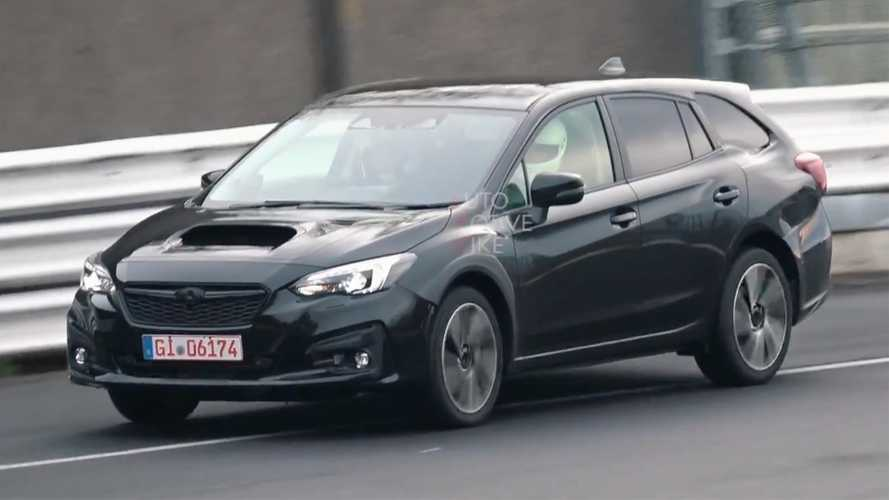 2020 Subaru Levorg test mule cruises the Nürburgring
