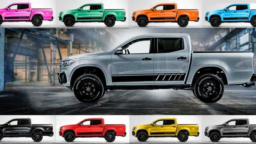 Mercedes sells a pink X-Class X² lifted pickup truck