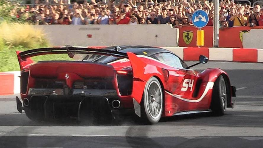 Ferrari FXX K Evo Sounds Absolutely Epic While Tackling Tight Circuit