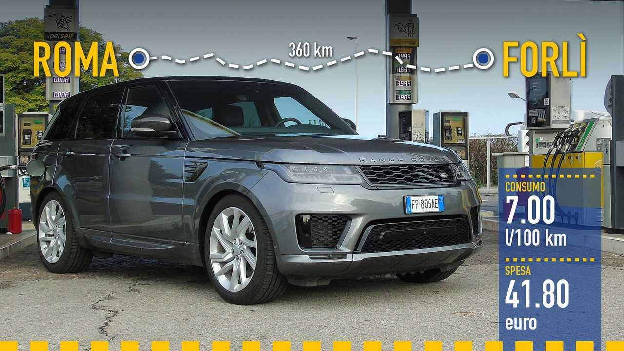 Range Rover Sport PHEV, la prova consumi