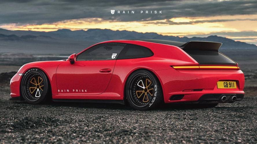 Porsche 911 shooting brake rendered as ultimate grocery getter