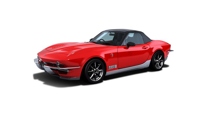 Mitsuoka Rock Star is an MX-5 turned into a shrunken Corvette