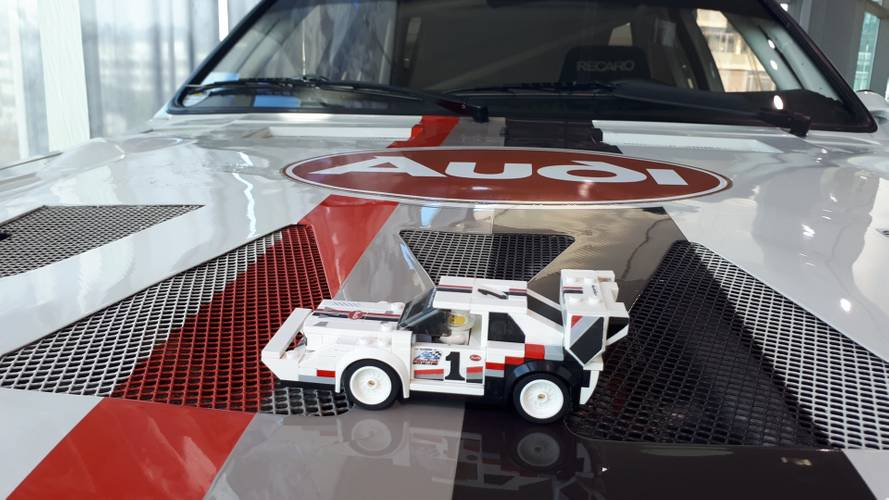 Lego Fan's Audi Sport Quattro Meets The Real Thing In Ingolstadt