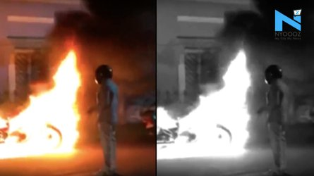 Man Sets Fire to His Dream Bike To Make a Point
