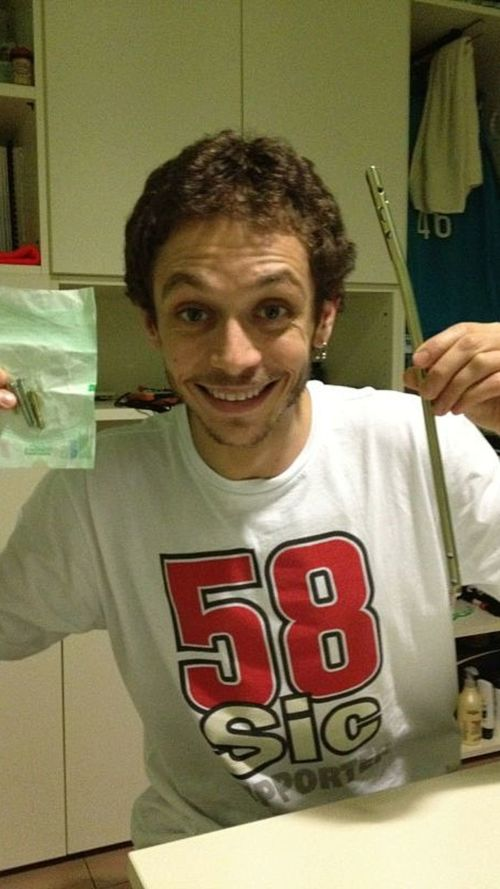 Rossi: here's the plate and screws that were inside my leg