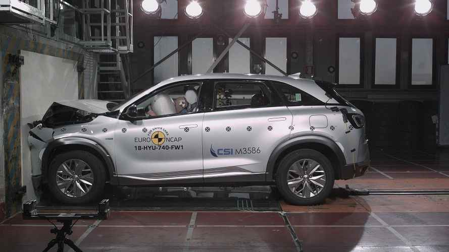 Crash test, per la prima volta 5 stelle all'idrogeno