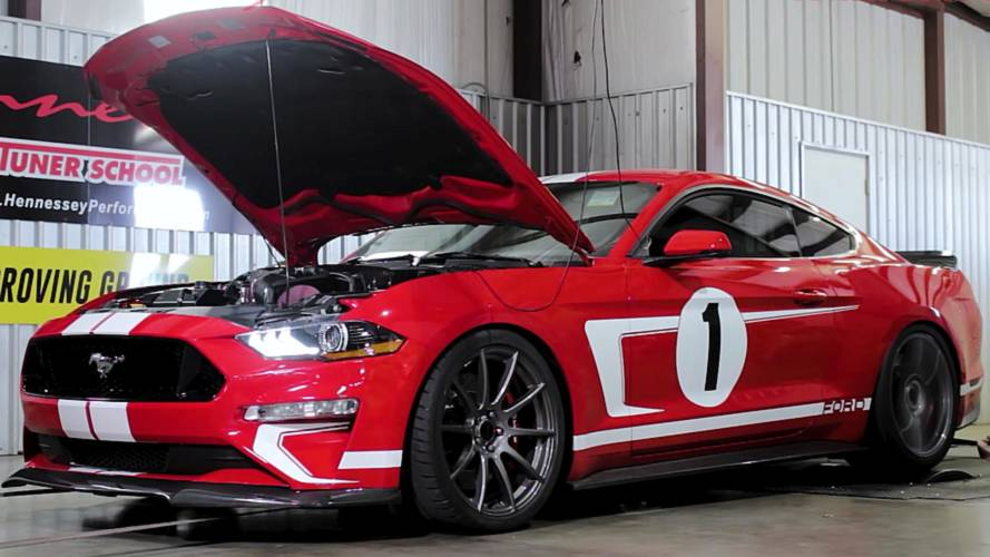 Hennessey Ford Mustang Heritage Edition Whines Loudly On The Dyno