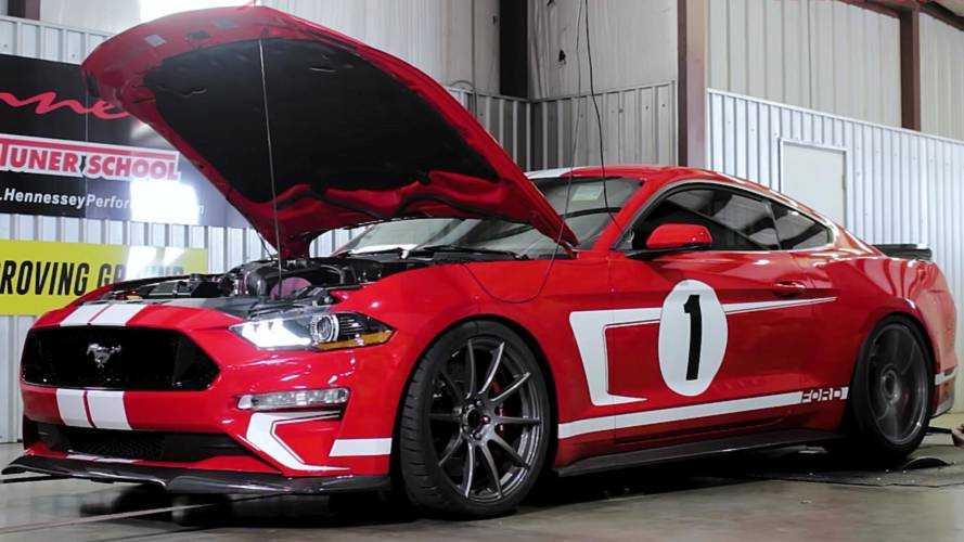 Hennessey загнал свой Ford Mustang Heritage Edition на диностенд