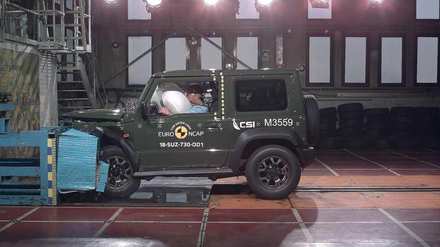 Novo Suzuki Jimny recebe três estrelas em teste de colisão