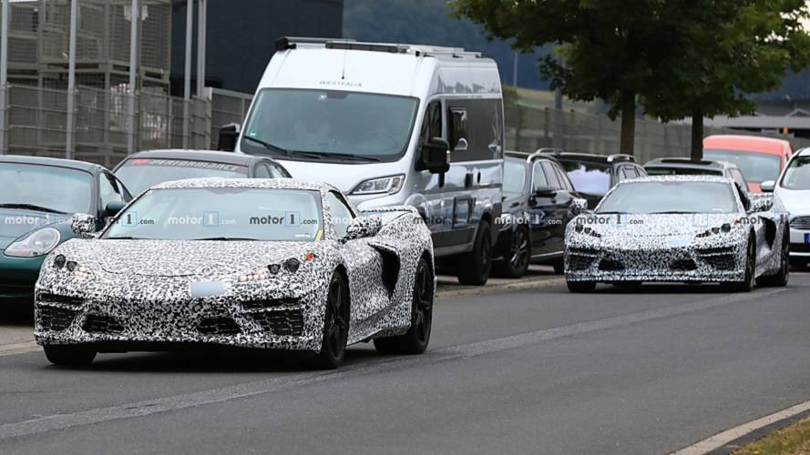 Mid-engined Chevy Corvette spied with less camouflage