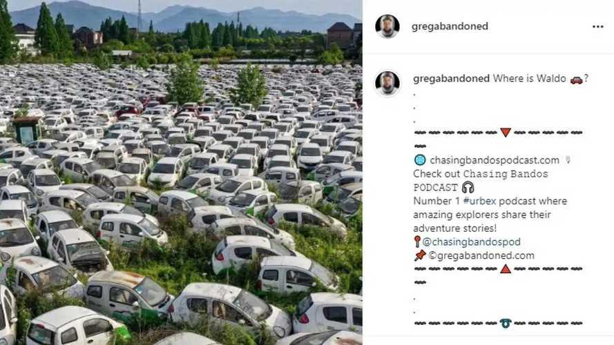 Cimitero di auto elettriche in Francia? Falso, è in Cina