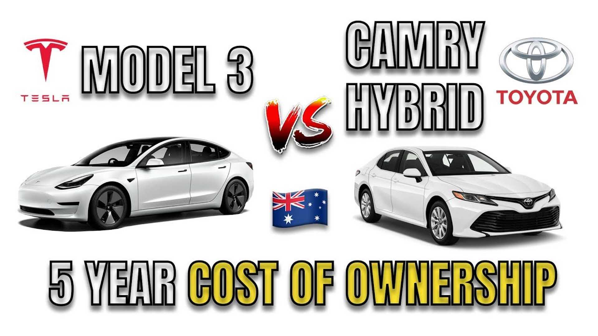 Tesla Model 3 Vs Toyota Camry Hybrid: Five-Year Cost Of Ownership