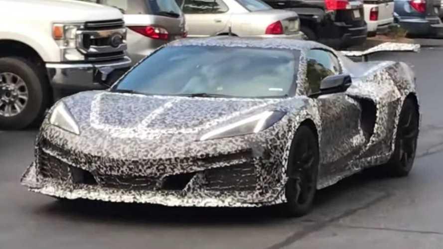 Four Chevy Corvette Z06 Prototypes Caught Leaving Hotel Parking Lot