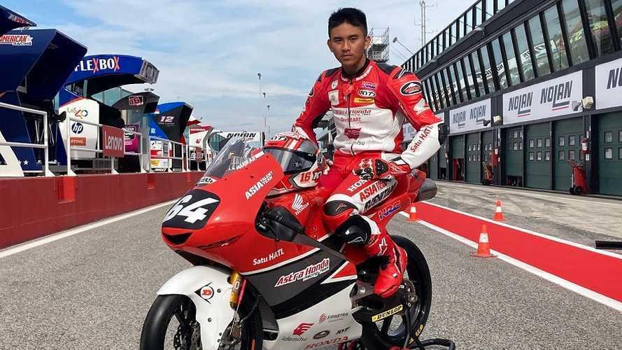 Jelang GP Moto3 Misano, Mario Suryo Aji Pakai Nomor Mendiang Ayah
