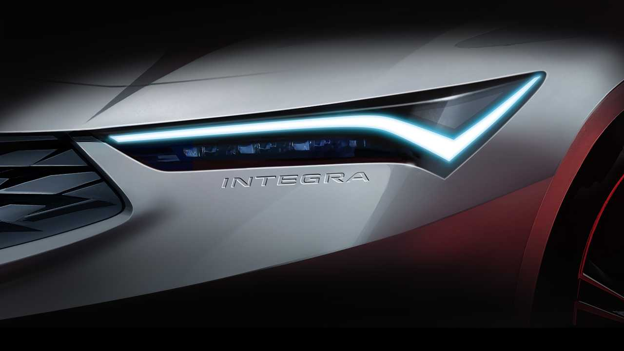 Teaser image for the forthcoming Acura Integra.