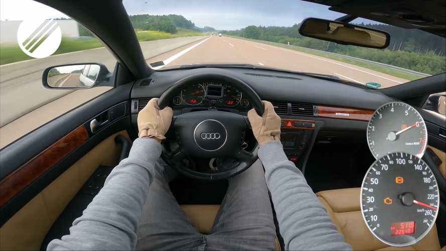 Check Engine Light Doesn't Slow Audi A6 On Autobahn Top Speed Run