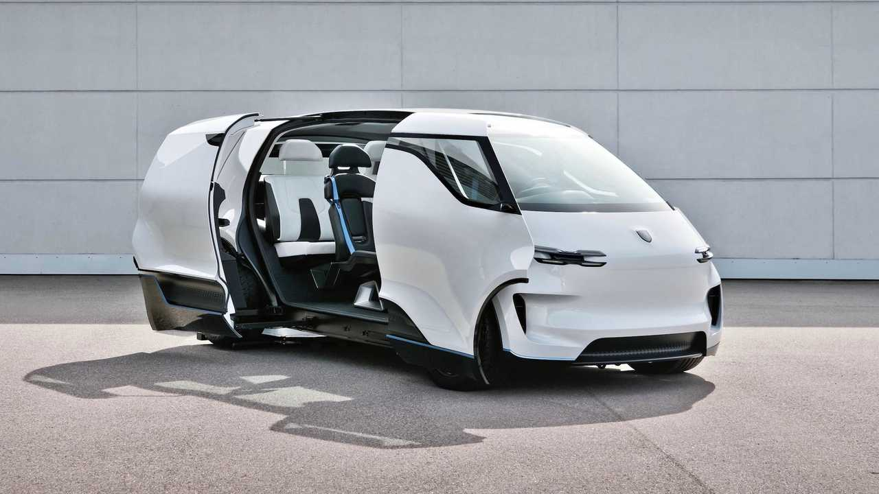 Porsche Vision Renndienst Elektrikli Minibüs Konsepti İç Mekanı
