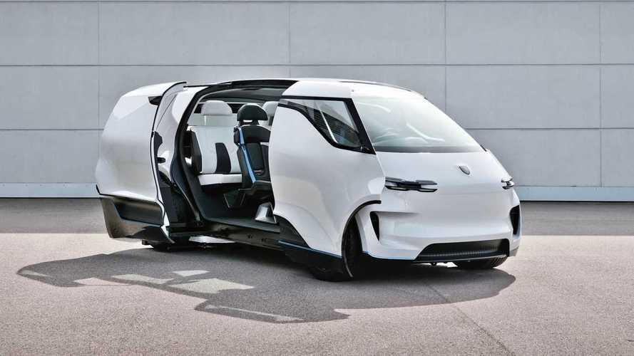 Porsche'nin elektrikli minibüs konseptinden yeni görüntüler geldi