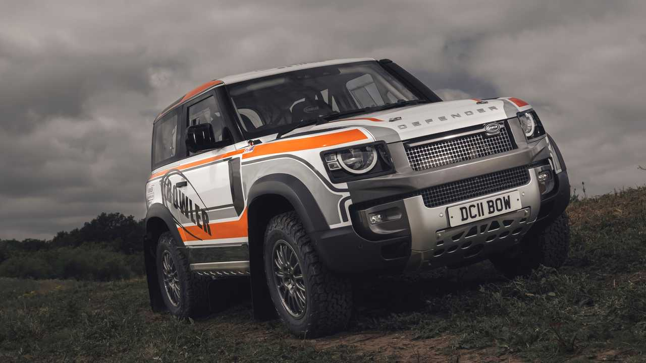 land rover defender rally