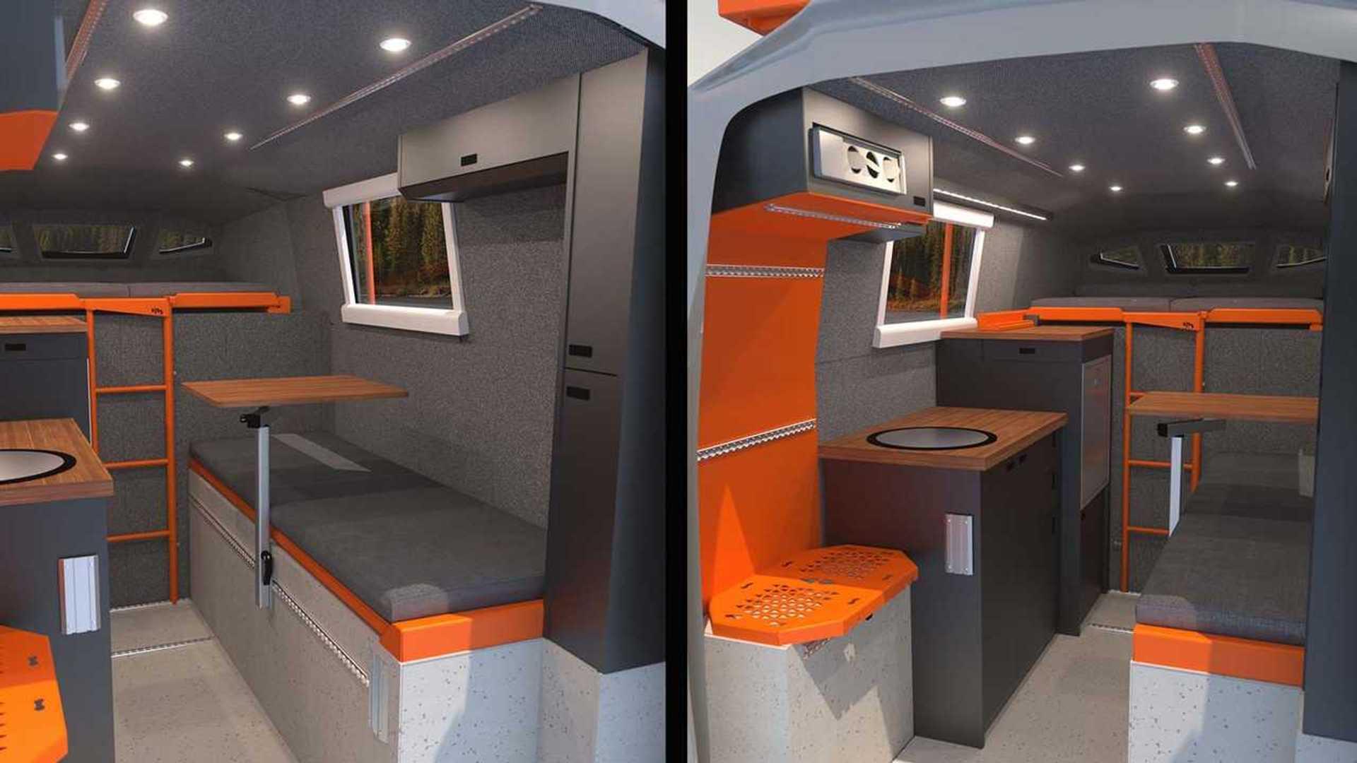 loki icarus truck camper interior rendering.