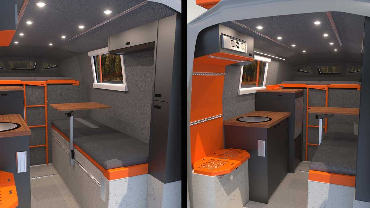 Loki Icarus Truck Camper Interior Rendering