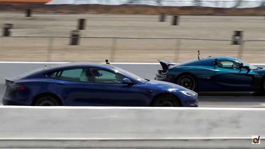Rimac Nevera и Tesla Model S Plaid сошлись на прямой