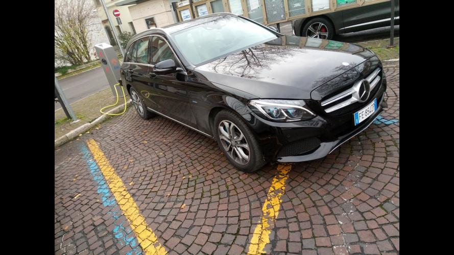 Mercedes C 350 e Station Wagon, la prova dei consumi reali