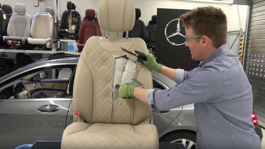 Mercedes-Benz Classe S siège découpé