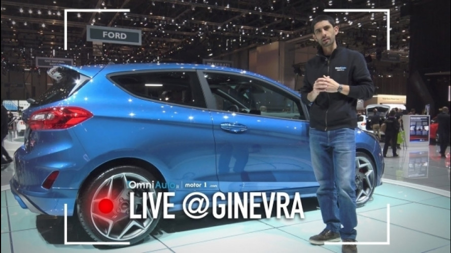 Salone di Ginevra: Ford Fiesta ST, divertimento a tre cilindri [VIDEO]